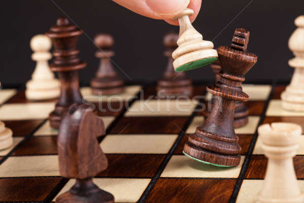 Person Playing Chess Stock photo © AndreyPopov