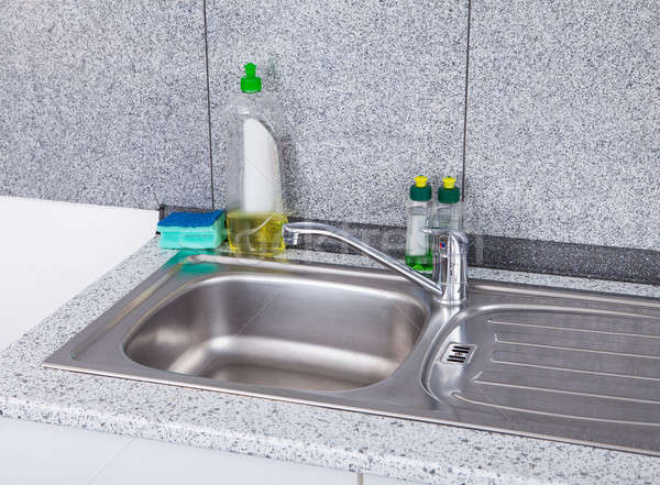 Silver Kitchen Sink Stock photo © AndreyPopov