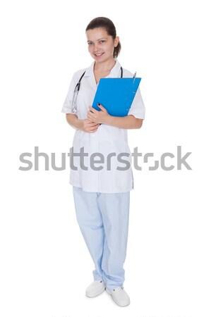 小さな 看護 魅力的な 医療 インターン ストックフォト © AndreyPopov
