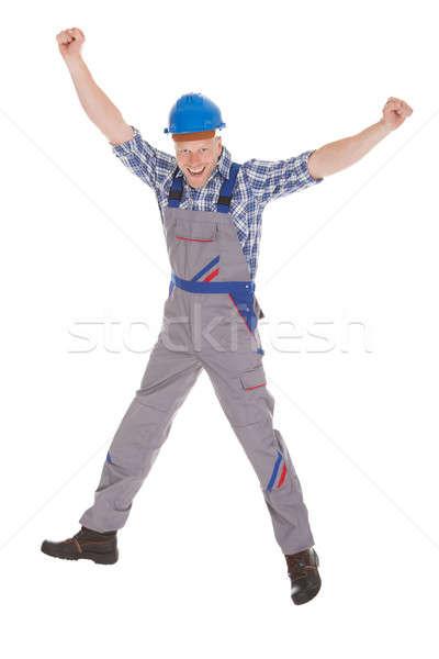 Manual trabalhador gritando mãos Foto stock © AndreyPopov
