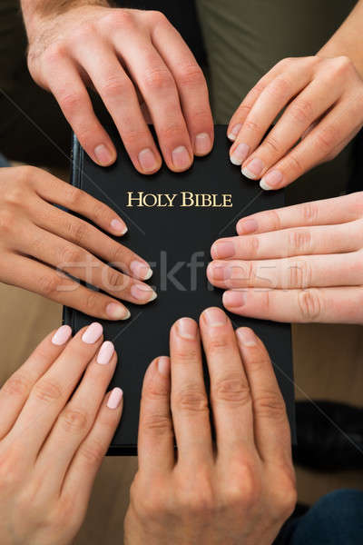 People Holding Holy Bible Stock photo © AndreyPopov