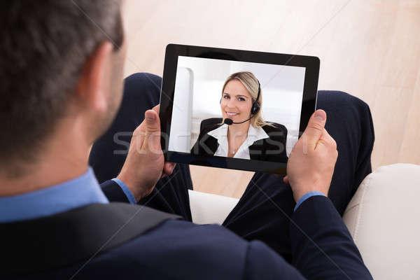 Businessman Video Conferencing Stock photo © AndreyPopov
