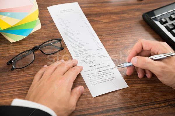 рук получение очки столе Сток-фото © AndreyPopov