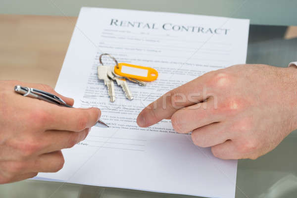 Person Signing Rental Contract Stock photo © AndreyPopov