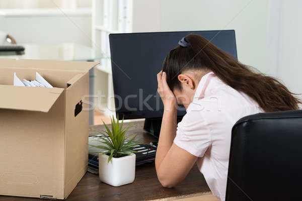 Stock photo: Dismiss Young Businesswoman In Office