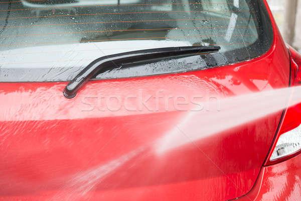 車 高い 圧力 水 ジェット 赤 ストックフォト © AndreyPopov