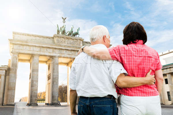 Couple Standing In Front Of Brandenburg Gate Stock photo © AndreyPopov