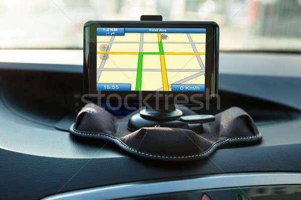 Navegación dentro coche primer plano nuevos moderna Foto stock © AndreyPopov