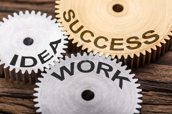 Success  Idea And Work Interlocked Cogwheels Stock photo © AndreyPopov
