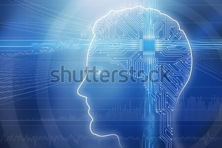 Illustration Of Digital Generated Human Head Stock photo © AndreyPopov