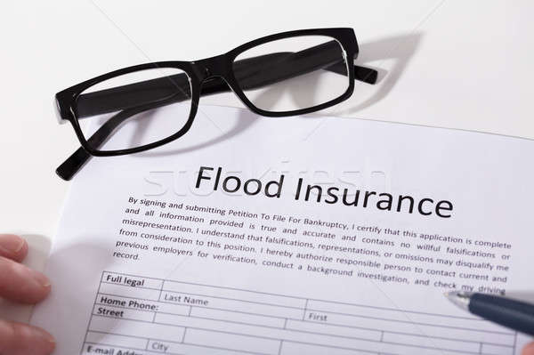 Elevated View Of Flood Insurance Form Stock photo © AndreyPopov