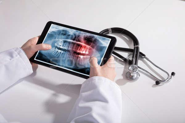 врачи стороны цифровой таблетка экране Сток-фото © AndreyPopov