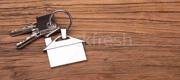 House Keychain On Key Stock photo © AndreyPopov