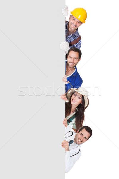 Stock fotó: Csoport · profi · emberek · plakát · csoportkép · különböző
