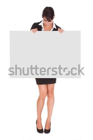 Stok fotoğraf: Genç · işkadını · mutlu · beyaz