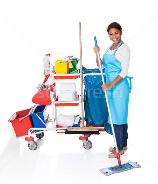 женщины чистого очистки оборудование изолированный белый Сток-фото © AndreyPopov