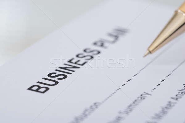 Pen Business Plan Form Stock photo © AndreyPopov
