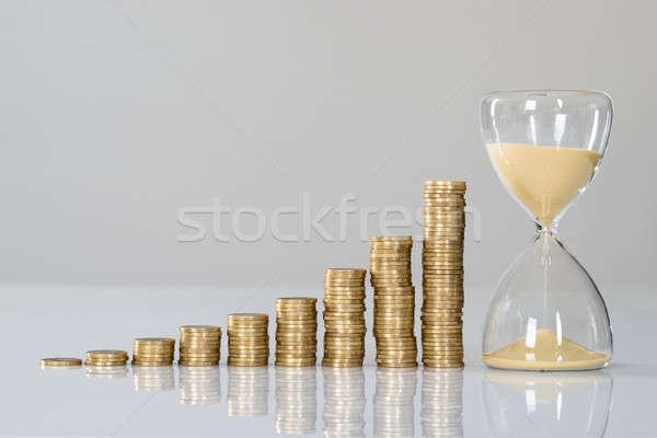 роста диаграммы песочных часов изолированный белый деньги Сток-фото © AndreyPopov