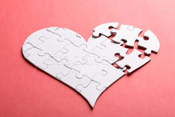 Broken Heart Made Of Puzzle Stock photo © AndreyPopov