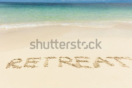 Beach And Smiley Face On Sand By Sea Stock photo © AndreyPopov