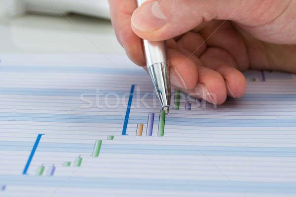 Hand With Pen Over Gantt Diagram Stock photo © AndreyPopov