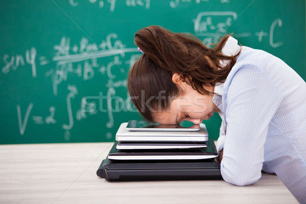 Woman Putting Head Down Stock photo © AndreyPopov
