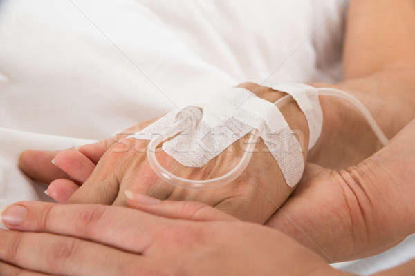 Iv Drip In Patient's Hand Stock photo © AndreyPopov