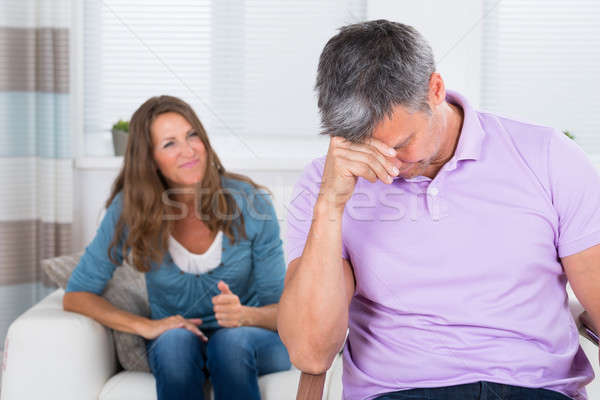 Woman Shouting To The Depressed Man Stock photo © AndreyPopov