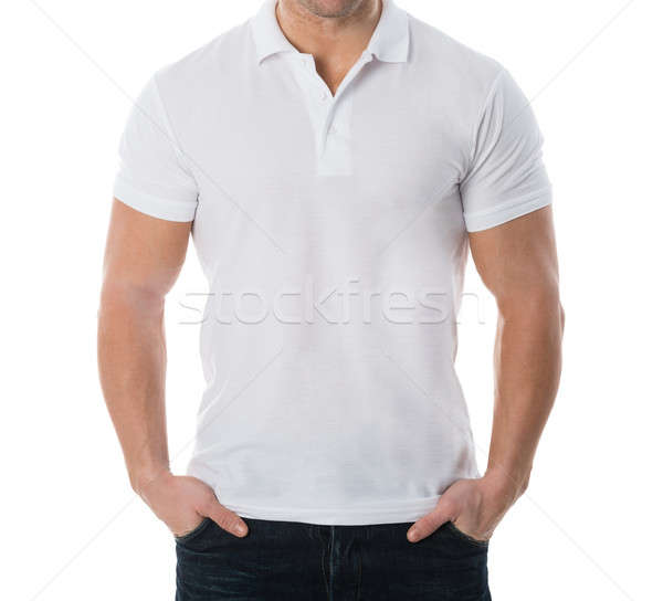 Midsection Of Man In Casuals Stock photo © AndreyPopov