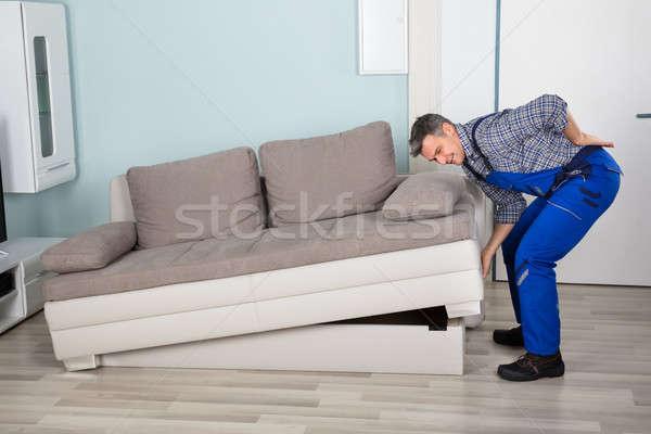 Сток-фото: работник · диван · мужчины · страдание