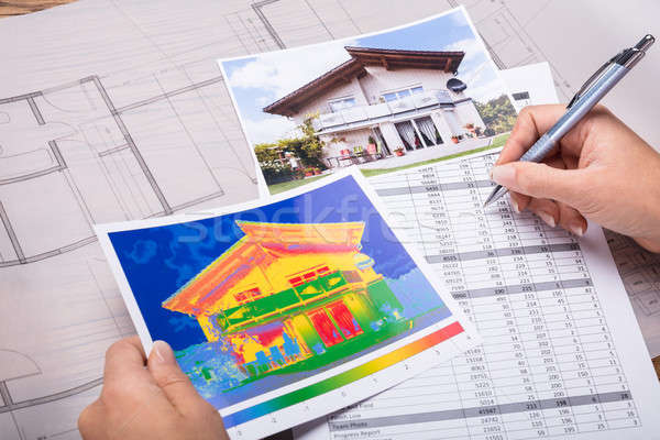 Architecture Calculating Heat Temperature Stock photo © AndreyPopov