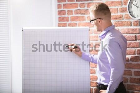 Affaires écrit grille graphique marqueur Photo stock © AndreyPopov