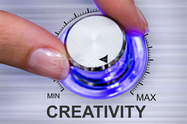 Mão humana criatividade preto energia Foto stock © AndreyPopov
