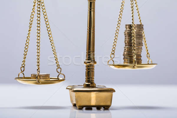 Balancing Coins On Scale Stock photo © AndreyPopov