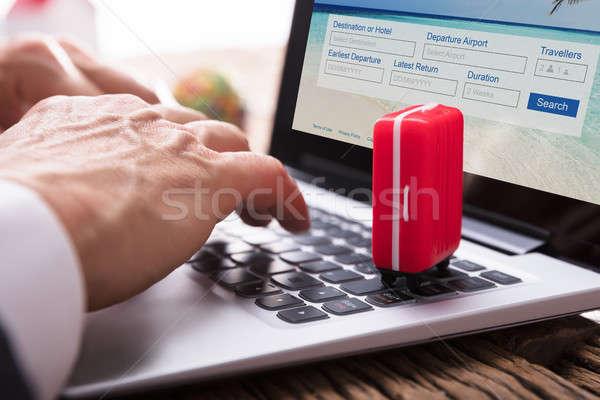 Hand vulling online colli vorm Stockfoto © AndreyPopov