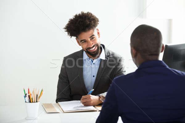 ビジネスマン 男性 候補者 小さな オフィス ビジネス ストックフォト © AndreyPopov
