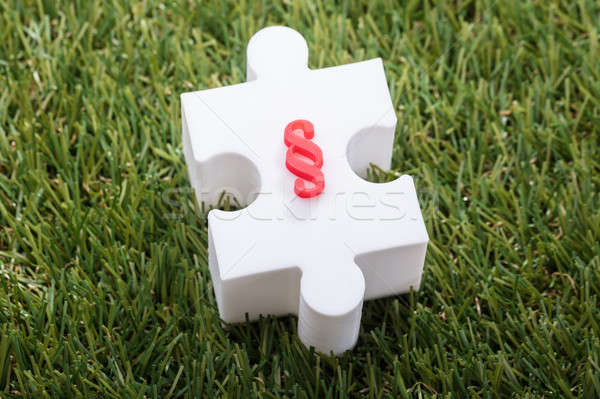Elevated View Of Paragraph Symbol On Jigsaw Puzzle Stock photo © AndreyPopov