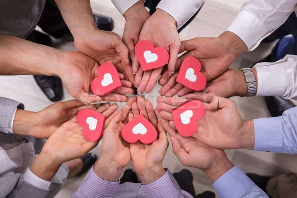 красный сердцах мнение Сток-фото © AndreyPopov