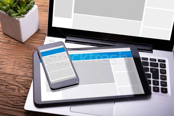 Electronic Devices With Screen Stock photo © AndreyPopov
