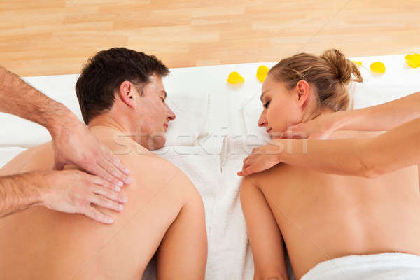 Relaxing massage for two Stock photo © AndreyPopov