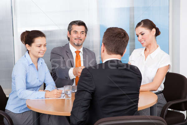 Businesspeople Taking Interview Stock photo © AndreyPopov