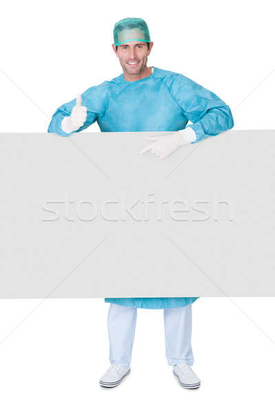 Male surgeon in scrubs uniform Stock photo © AndreyPopov