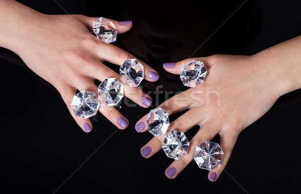 Close-up Of Woman's Hand And Diamonds Stock photo © AndreyPopov
