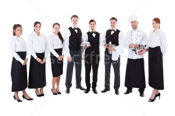 Large group of waiters and waitresses Stock photo © AndreyPopov