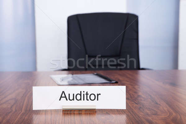 Nameplate With Auditor Title Stock photo © AndreyPopov