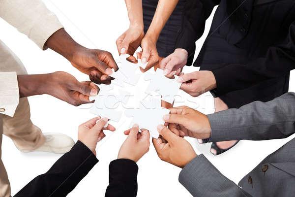 бизнеса народов рук изображение белый Сток-фото © AndreyPopov