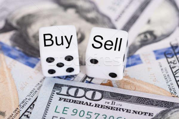 Acheter vendre papier lettre Photo stock © AndreyPopov