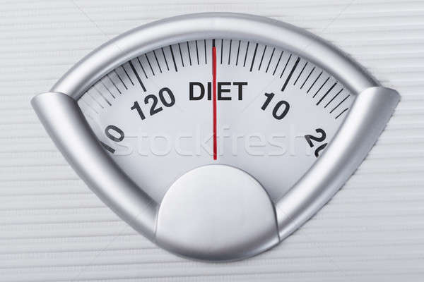 Stock photo: Weight Scale Indicating Diet