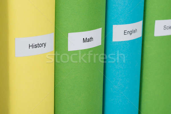 Different Subject Books Stock photo © AndreyPopov