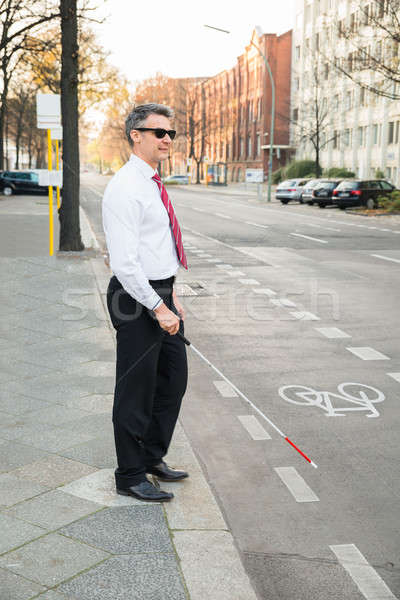 Blind Man Crossing Road Stock photo © AndreyPopov